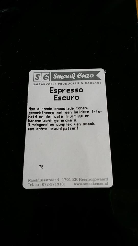 Coffee Attendant Espresso Escuro package
