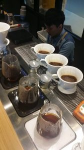 Coffee Attendant Cupping Room Hong Kong