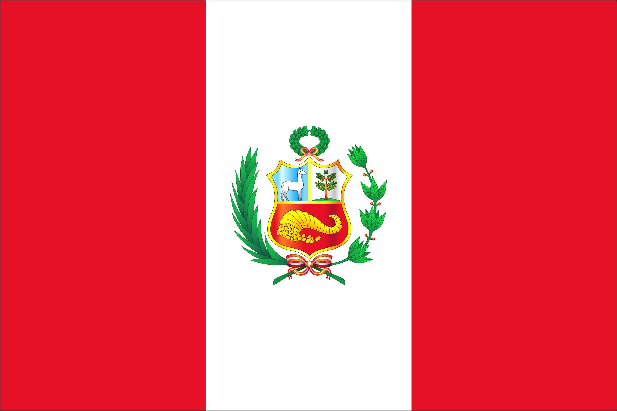 Flag Peru Coffee Attendant
