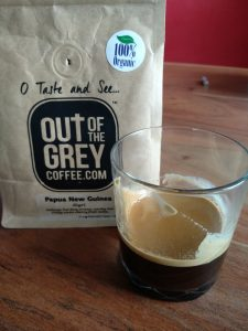 Out of the Grey coffee Papua New Guinea package