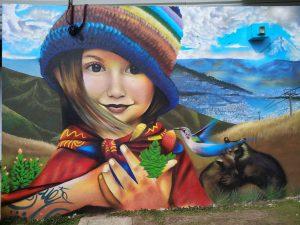 Quito street art Traviesa