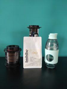 Imbibe Coffee Roasters package