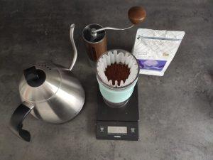 Muni Coffee Ethiopia Haro Wachu set up