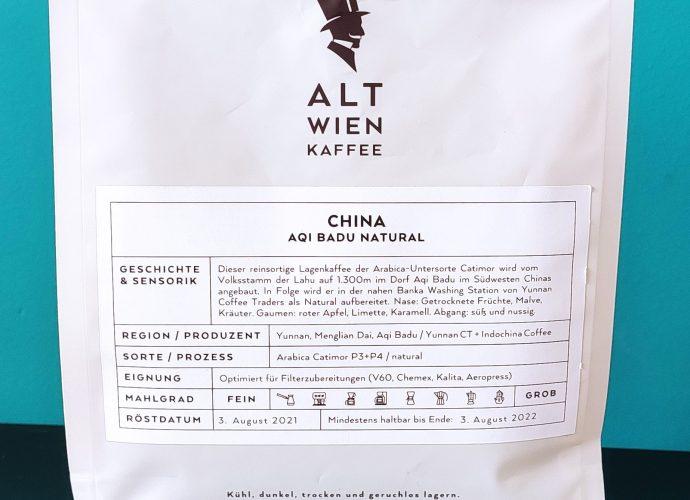 Alt Wien Kaffee Aqi Badu package
